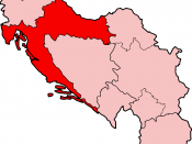Map of Croatia under the Socialist Federal Republic of Yugoslavia
