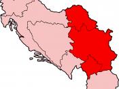 Map of Serbia under the Socialist Federal Republic of Yugoslavia