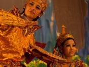 Burmese Ramayana dance (Rama and Me Thida) at the Karaweik in Yangon