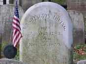 Washington Irving's grave in Sleepy Hollow, New York.