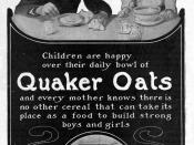 1905 Quaker Oats magazine advertisement
