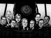 English: Caricature of the Texas House of Representatives Environmental Regulation Committee, 2011.