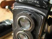 Grampa Fred's old Rolleiflex he used in North Africa. Some of Cecil Beaton's most famous pictures were taken with one of these. It still works. I have an old Johnson enlarger that dates earlier than this which will take negatives up to 10x16. The only way