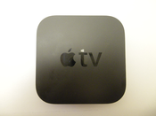 English: The new, second-generation Apple TV. This is now released, shipping product which is in customers' hands.