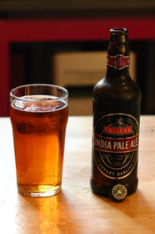 A bottle of Fuller's IPA