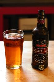 A bottle of Fuller's IPA
