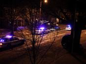 Two police car accidents