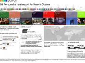 Dopplr 2008 Personal Annual Report for Barack Obama