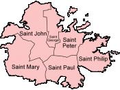 Parishes of Antigua