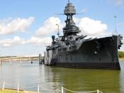 English: LA PORTE, Texas (Aug. 21, 2010) The museum battleship USS Texas is being restored to her 1945 condition. The former USS Texas (BB 35) was commissioned March 12, 1914 and decommissioned April 21, 1948. The battleship saw action in World War I and
