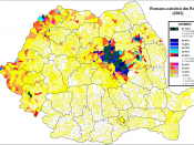 The distribution of the Roman-catholics in Romania (census 2002)