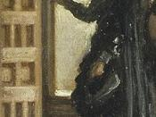 Detail of Las Meninas showing Don José Nieto Velázquez (the figure standing in the dorway)