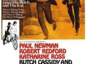 Film poster for Butch Cassidy and the Sundance Kid - Copyright 1969, New Films International