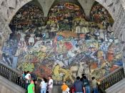 Diego Rivera's mural depicting Mexico's history at the National Palace in Mexico City.