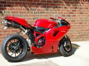 English: A Ducati 1098 motorcycle seen on the street.