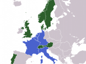 The Inner Six (founding members of the European Communities) in blue, and the