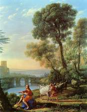 Landscape with Apollo Guarding the Herds of Admetus and Mercury stealing them (1645)