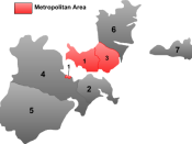 English: Map of Shantou in Guangdong province.