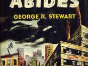 Cover of the 1949 Random House hardcover edition of Earth Abides. Cover illustration by H. Lawrence Hoffman.