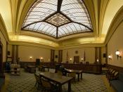 The interior of the Supreme Court of the State of Oregon.