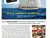 1956 Zenith Trans-Oceanic Portable Radio Advertisement Readers Digest April 1956