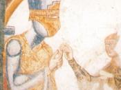 English: Anonymous (13th century), Fresco, depicting a scene from