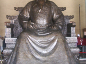 Bronze statue of the Yongle Emperor