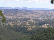 Nundle valley from the Hanging Rock lookout