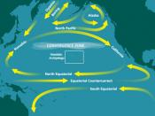 English: Map of the North Pacific Subtropical Convergence Zone (STCZ) within the North Pacific Gyre. Also the location of the Great Pacific Garbage Patch.