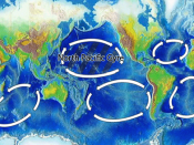 Original version is Image:Oceanic gyres.png. The north pacific gyre is highlighted.