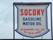 Socony advertising sign. Clark's Trading Post, Lincoln, New Hampshire