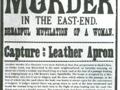 Newspaper broadsheet referring to the Whitechapel murderer (later known as