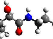 English: Pantothenic acid 3D structure