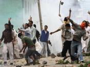 English: Protesters in Srinagar, Jammu and Kashmir, India. November 2010