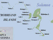 Trobriand Islands map, Papua New Guinea