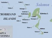 Trobriand Islands map, Papua New Guinea