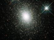 Hubble Space Telescope image of Mayall II, a globular cluster in the Andromeda galaxy.