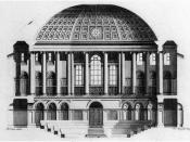 Engraving of section of the Irish House of Commons chamber by Peter Mazell based on the drawing by Rowland Omer 1767