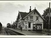 Aas Jernbanestation, 1922