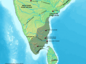 filedesc Map showing the extent of the Chola empire during Kulothunga Chola I. Modified by myself using Adobe Photoshop