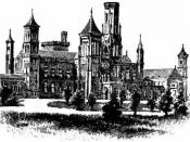 English: Drawing of the Smithsonian Institution