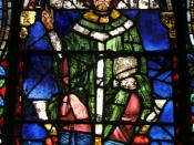 Canterbury Cathedral, panel from window, detail St Thomas a Becket