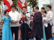 Arroyo taking her Oath of Office for a full term as president in Cebu City on June 30, 2004.
