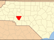 Locator Map of Cabarrus County, North Carolina, United States