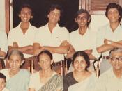 Lynn de Silva in the early 1980s with some family and extended family