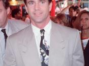Photo of Mel Gibson at the premiere of Air America.