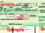 English: Airline Ticket of Northwest Airlines
