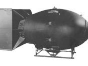 A mockup of the Fat Man nuclear device