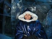 Kel at the Icebar