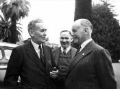 English: Photograph of Charles Norrie, Ben Chifley and Thomas Playford IV, taken in 1946.